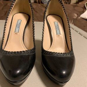 Black Prada pumps 4""